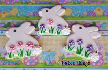 Baked Thingz easter bunny cookies