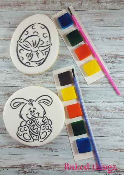 Cookie sticks will be used for the paint palettes